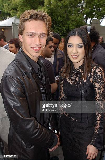 Isaac Hanson Michelle Branch during 2002 MTV Icon Aerosmith Arrivals at Sony Studios in Los Angeles California United States