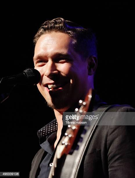 Isaac Hanson of Hanson performs at The Fonda Theatre on November 1 2015 in Los Angeles California
