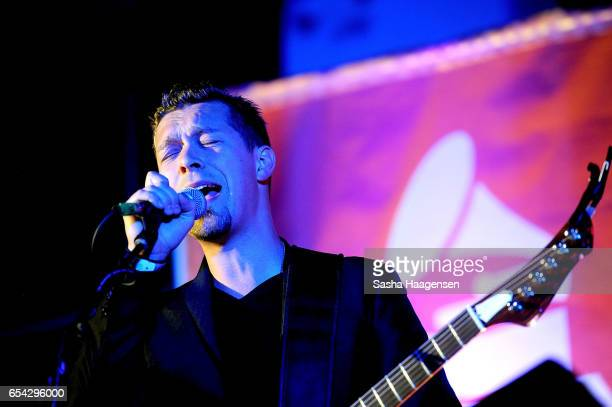 Isaac Hanson of Hanson performs at the Grammy Block Party during SXSW Music at the Four Seasons Hotel on March 16 2017 in Austin Texas