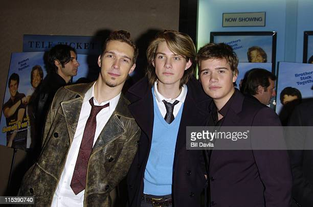 Isaac Hanson Taylor Hanson and Zac Hanson during 'Stuck on You' New York Premiere at The Clearview Chelsea West Theater in New York City New York...