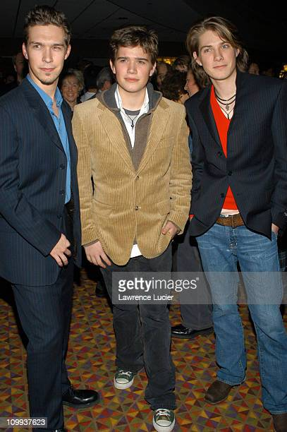 Isaac Hanson Taylor Hanson and Zac Hanson during The Lord Of The Rings The Return Of The King Special Screening New York at AMC Empire in New York...