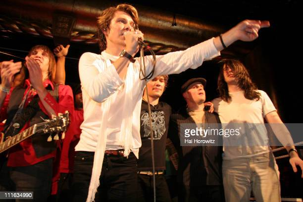 Isaac Hanson Taylor Hanson Zac Hanson musician and special guest Andrew WK