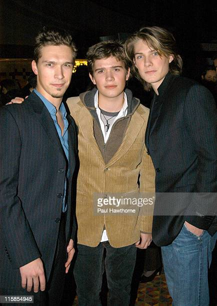 Isaac Hanson Zac Hanson and Taylor Hanson during 'The Lord of The Rings The Return of The King' Special Screening New York at AMC Empire in New York...