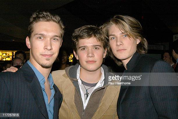 Isaac Hanson Zac Hanson and Taylor Hanson during The Lord of The Rings The Return of The King Special Screening New York at AMC Empire in New York...