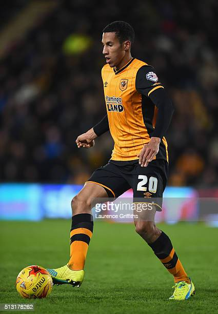 Isaac Hayden of Hull City in action during the Sky Bet Championship match between Hull City and Brighton and Hove Albion at KC Stadium on February...