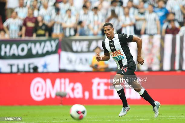 Isaac Hayden of Newcastle United competes the ball during the Premier League Asia Trophy 2019 match between West Ham United and Newcastle United at...