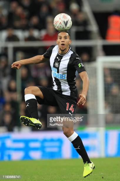 Isaac Hayden of Newcastle United during the FA Cup match between Newcastle United and Rochdale at St James's Park Newcastle on Tuesday 14th January...