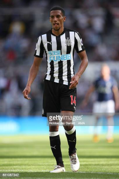 Isaac Hayden of Newcastle United during the Premier League match between Newcastle United and Tottenham Hotspur at St James Park on August 13 2017 in...