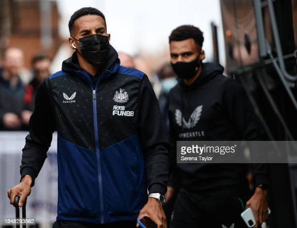 Isaac Hayden of Newcastle United FC arrives for the Premier League match between Crystal Palace and Newcastle United at Selhurst Park on October 23,...