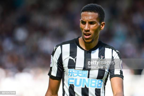 Isaac Hayden of Newcastle United look on during the Premier League Match between Newcastle United and Tottenham Hotspur at StJames' Park on August 13...