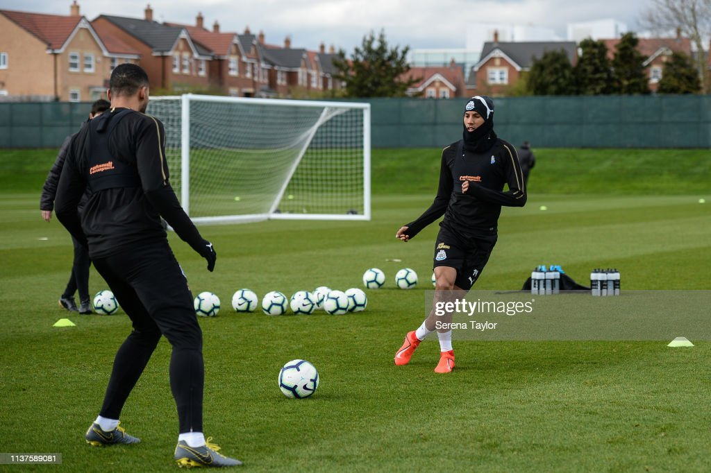 GBR: Newcastle United Training Session