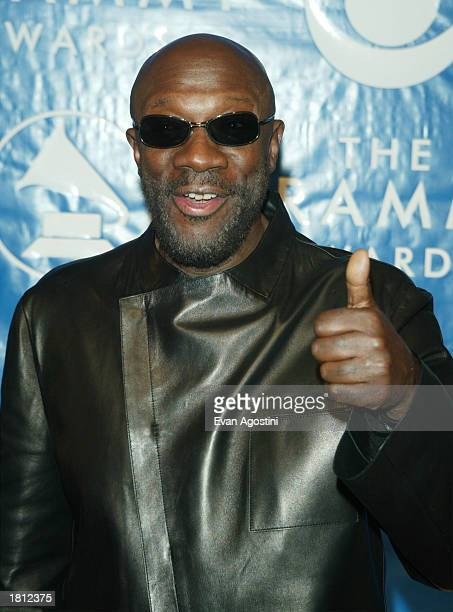 Isaac Hayes arrives at the 45th Annual Grammy Awards at Madison Square Garden on February 23 2003 in New York City