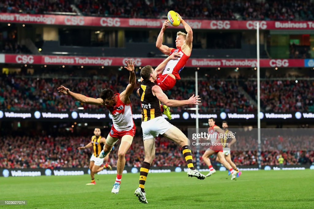 AFL Rd 23 - Sydney v Hawthorn : News Photo
