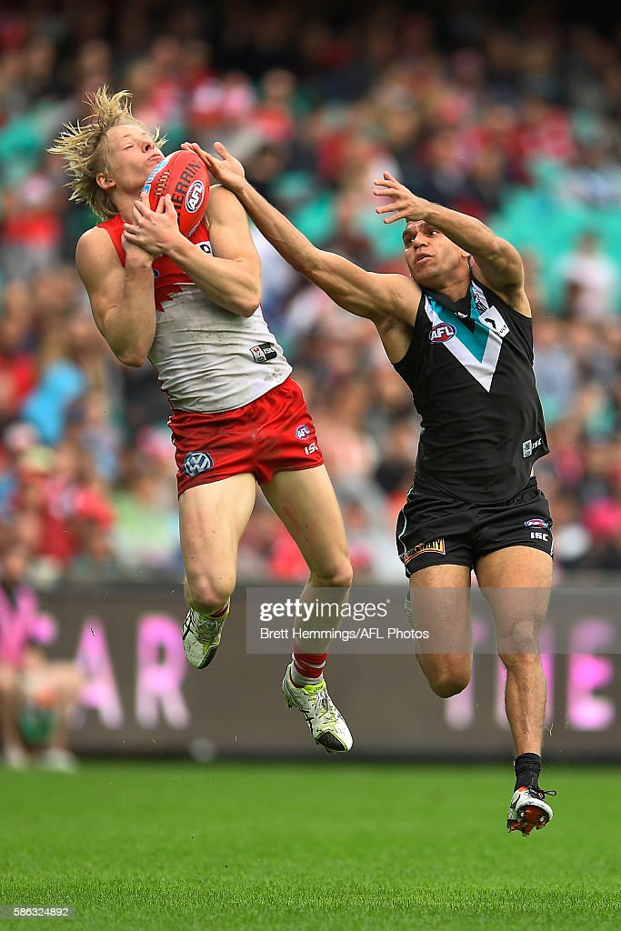 AFL Rd 20 - Sydney v Port Adelaide : News Photo