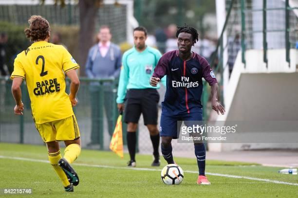 Isaac Hemans Arday of Paris Saint Germain during the National 2 match between Paris Saint Germain B and Chasselay on September 2nd 2017 in Paris...