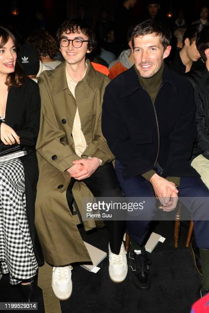 Isaac Hempstead and Gwilym Lee attend the Ami Alexandre Mattiussi Menswear Fall/Winter 20202021 show as part of Paris Fashion Week on January 14 2020...