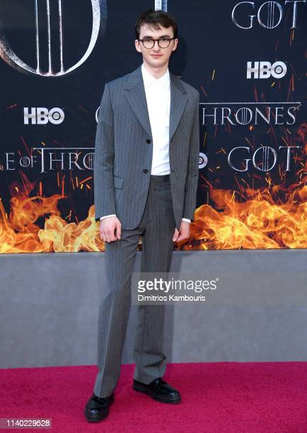 Isaac Hempstead Wright attends the Game Of Thrones Season 8 Premiere on April 03 2019 in New York City