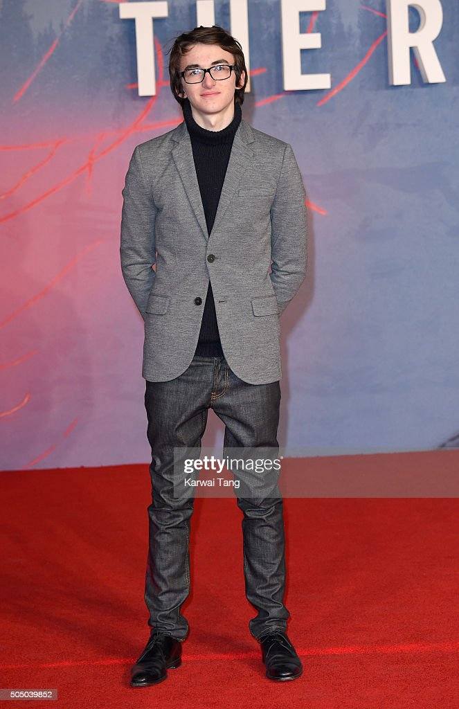 Isaac Hempstead Wright attends UK Premiere of 'The Revenant' at Empire Leicester Square on January 14, 2016 in London, England.