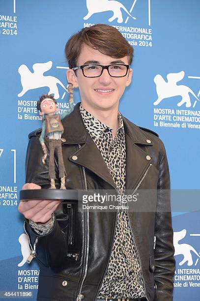 Isaac HempsteadWright attends 'The Boxtrolls' photocall during the 71st Venice Film Festival on August 31 2014 in Venice Italy