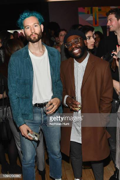 Isaac HindinMiller and MacArtur Joseph attend the Jump Into Spring MICHAEL Michael Kors Spring 2019 Launch Party at Dolby Soho on February 5 2019 in...