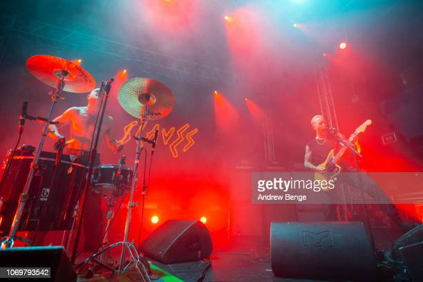 Isaac Holman and Laurie Vincent of Slaves perform at O2 Academy Leeds on November 19 2018 in Leeds England