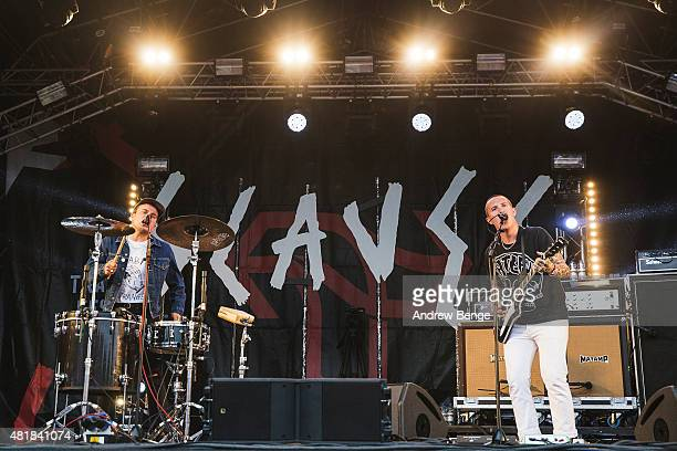 Isaac Holman and Laurie Vincent perform on the Main Stage at Tramlines Festival on July 24 2015 in Sheffield United Kingdom