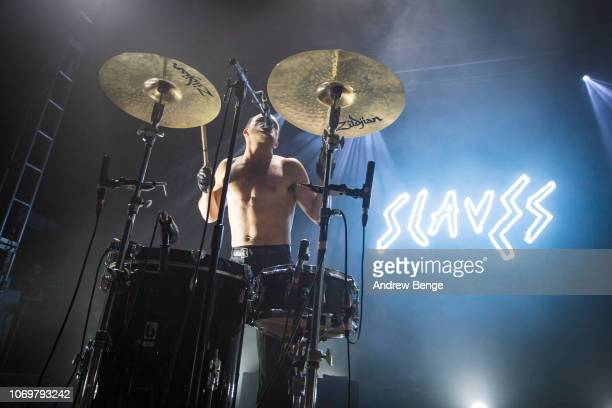 Isaac Holman of Slaves performs at O2 Academy Leeds on November 19 2018 in Leeds England