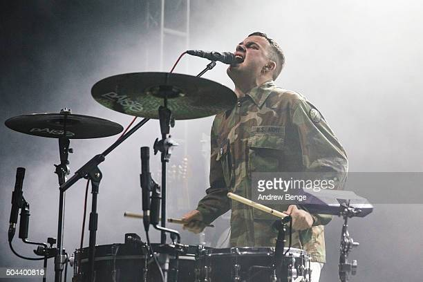 Isaac Holman of Slaves performs on stage at O2 Academy Leeds on January 10 2016 in Leeds England