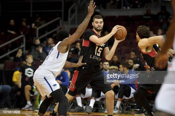 Isaac Humphries of the Erie BayHawks passes the ball during an NBA GLeague game on December 29 2018 at Erie Insurance Arena in Erie PA NOTE TO USER...