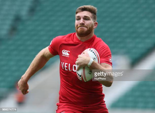 Isaac Kay of Canada during HSBC World Rugby Sevens Series Pool D match between Samoa against Canada at Twickenham stadium London on 2 June 2018