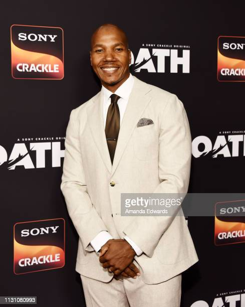 Isaac Keys arrives at Sony Crackle's 'The Oath' Season 2 exclusive screening event at Paloma on February 20 2019 in Los Angeles California