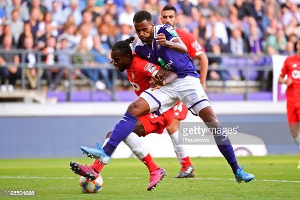 Isaac Kiese Thelin forward of Anderlecht, Merveille Bope Bokadi midfielder of Standard Liege during the Jupiler Pro League match between RSC...