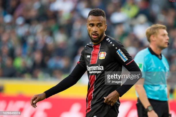 Isaac Kiese Thelin of Bayer 04 Leverkusen looks on during the Bundesliga match between Borussia Moenchengladbach and Bayer 04 Leverkusen at...