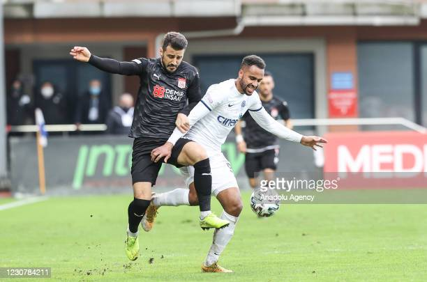 Isaac Kiese Thelin of Kasimpasa in action during Turkish Super Lig week 21 soccer match between Kasimpasa and Demir Grup Sivasspor at Recep Tayyip...