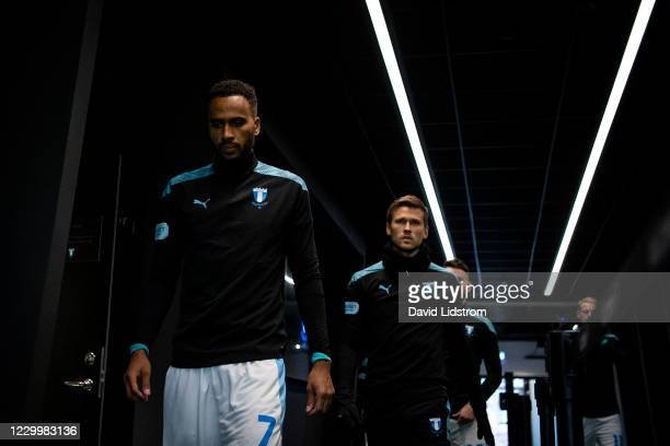Isaac Kiese Thelin of Malmo FF during the Allsvenskan match between Malmo FF and Ostersunds FK at Eleda Stadion on December 6, 2020 in Malmo, Sweden.