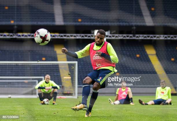 Isaac Kiese Thelin of Sweden during the FIFA 2018 World Cup Qualifier between Sweden and Luxembourg at Friends arena on October 3 2017 in Solna