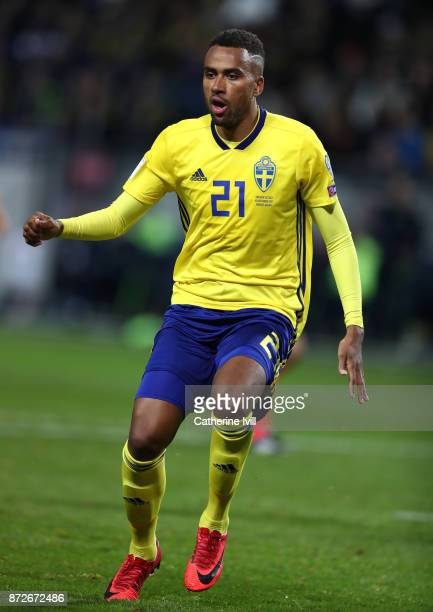 Isaac Kiese Thelin of Sweden during the FIFA 2018 World Cup Qualifier PlayOff First Leg between Sweden and Italy at Friends arena on November 10 2017...