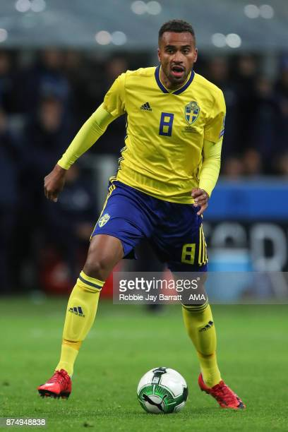 Isaac Kiese Thelin of Sweden during the FIFA 2018 World Cup Qualifier PlayOff Second Leg between Italy and Sweden at San Siro Stadium on November 13...