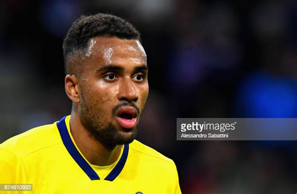Isaac Kiese Thelin of Sweden looks on during the FIFA 2018 World Cup Qualifier PlayOff Second Leg between Italy and Sweden at San Siro Stadium on...