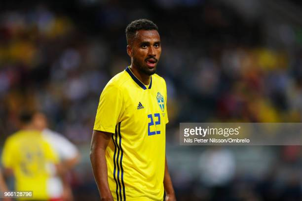 Isaac Kiese Thelin sof Sweden during the International Friendly match between Sweden and Denmark at Friends Arena on June 2 2018 in Solna Sweden