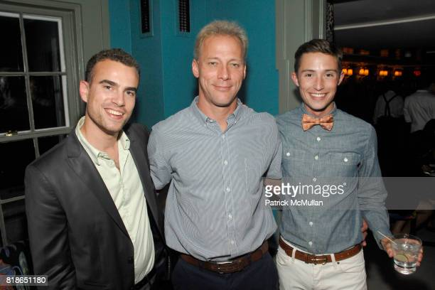 Isaac Klein Terrence Michael McCrossan and JP Qualters attend c/o the Maidstone hosts Equus cast party with Alec Baldwin Peter Shaffer Sam Underwood...