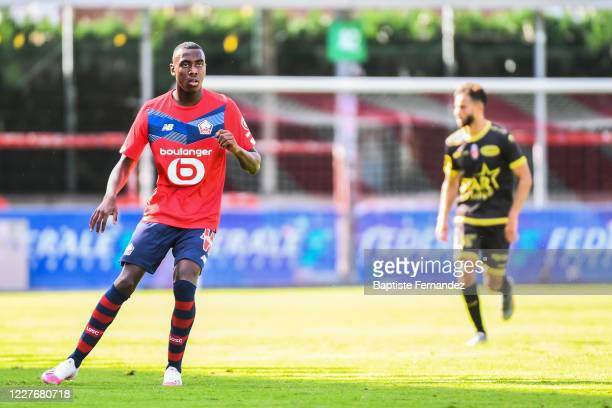 Isaac LIHADJI of Lille during the Friendly match between Lyon and Mouscron on July 18 2020 in Mouscron Belgium