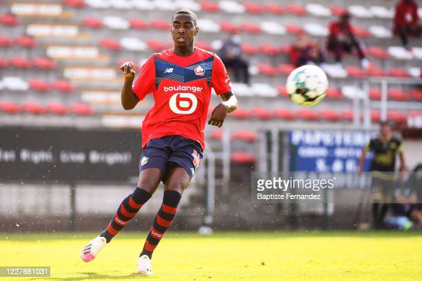 Isaac LIHADJI of Lille during the preseason soccer friendly match between Lille and Mouscron on July 18 2020 in Mouscron Belgium