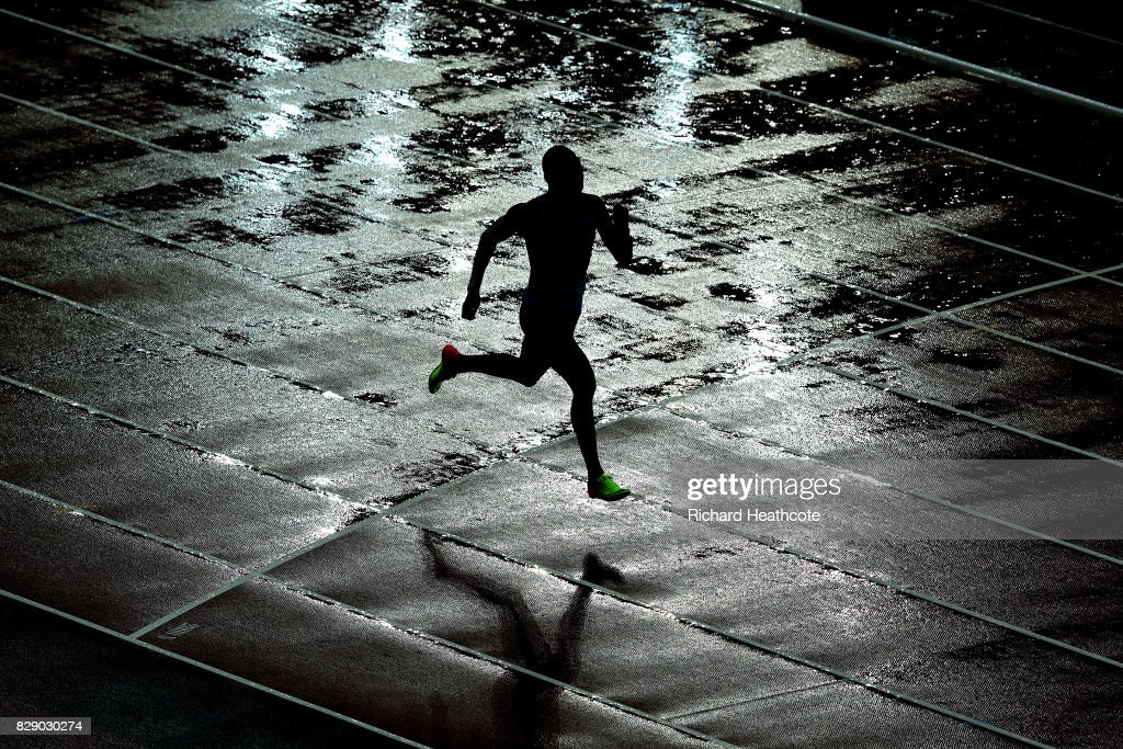 Isaac Makwala of Botswana competes in the Men's 200 metres qualification during day six of the 16th IAAF World Athletics Championships London 2017 at The London Stadium on August 9, 2017 in London, United Kingdom. Makwala was not allowed to compete yestrerday due to a norovirus outbreak but was allowed to qualify today running on his own.