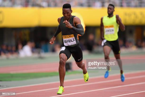 Isaac Makwala of Botswana competes in the Men's 200m during the IAAF Golden Grand Prix at Yanmar Stadium Nagai on May 20 2018 in Osaka Japan