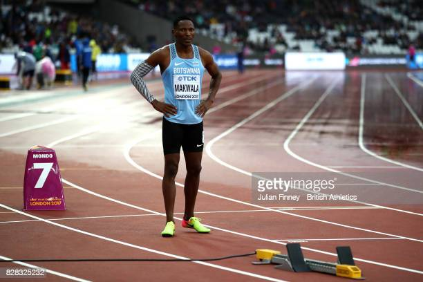 Isaac Makwala of Botswana prepares to compete in the Men's 200 metres qualification during day six of the 16th IAAF World Athletics Championships...
