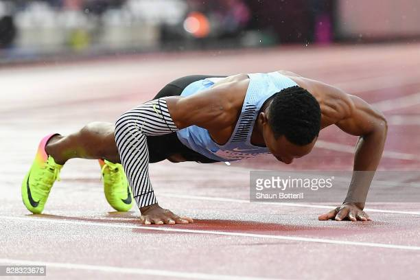 Isaac Makwala of Botswana reacts after competing in the Men's 200 metres qualification during day six of the 16th IAAF World Athletics Championships...