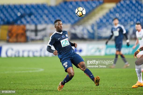 Isaac Mbenza of Montpellier during the French National Cup match round of 32 between Montpellier and Lorient on January 24 2018 in Montpellier France