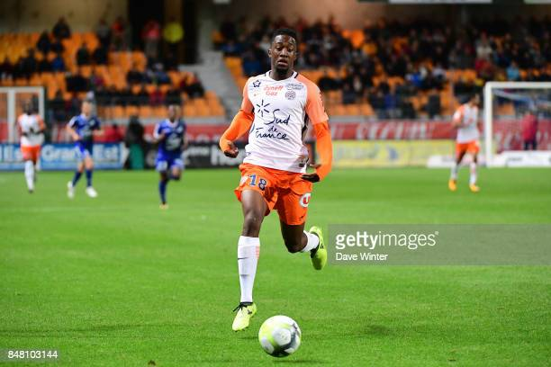 Isaac Mbenza of Montpellier during the Ligue 1 match between ESTAC Troyes and Montpellier Herault SC at Stade de l'Aube on September 16 2017 in...