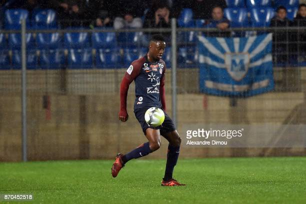 Isaac Mbenza of Montpellier during the Ligue 1 match between Montpellier Herault SC and Amiens SC at Stade de la Mosson on November 4 2017 in...